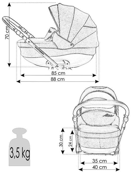 medidas y peso cochecito Shell Eko