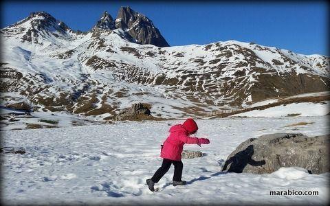 excursión invernal con mi hija