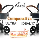 Bexa Ultra y Bexa Ideal 17. Cochecitos de bebé todoterreno con ruedas antipinchazos.