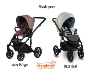comparativa de carritos de bebé Anex M/type y Bexa ideal