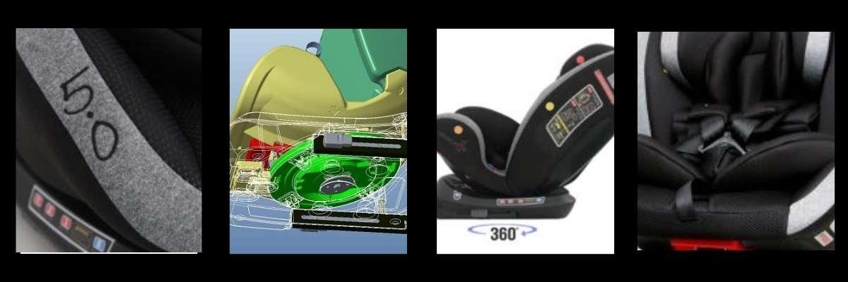 Características silla de coche Rescue Baby 5.0