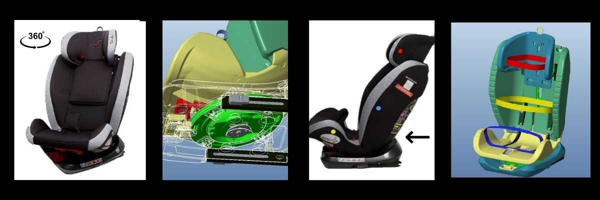 Características silla de coche RescueBaby grupo 2/3